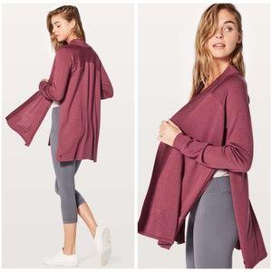 Lululemon Blissful Zen Sweater in So Merlot